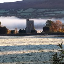 A misty view of Llangasty