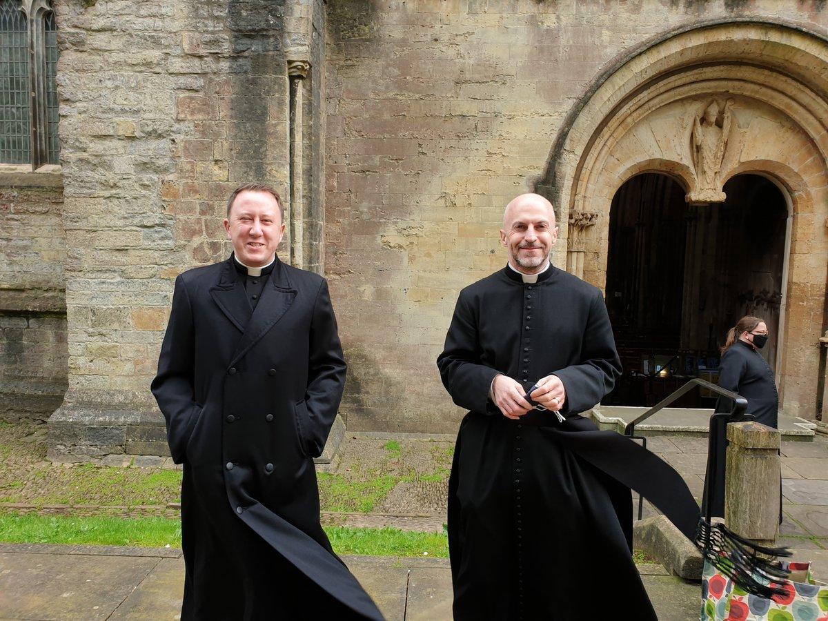 Fr Richard Green and Fr David Morris at Llandaff Cathedral