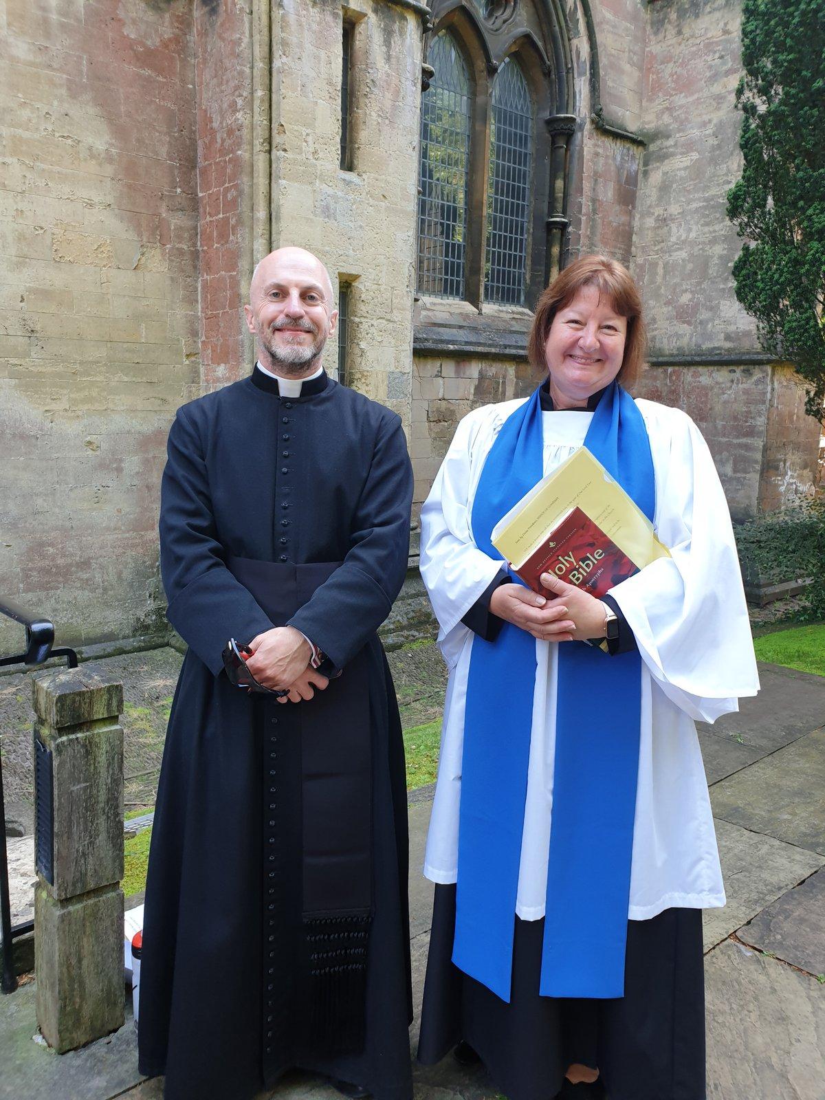 Fr Richard Green and Peta Maidman