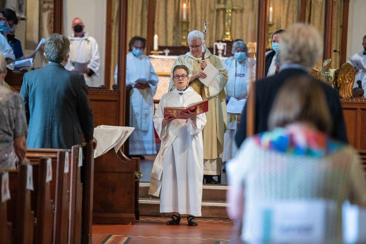 Revd Belinda Huxtable and Bishop June