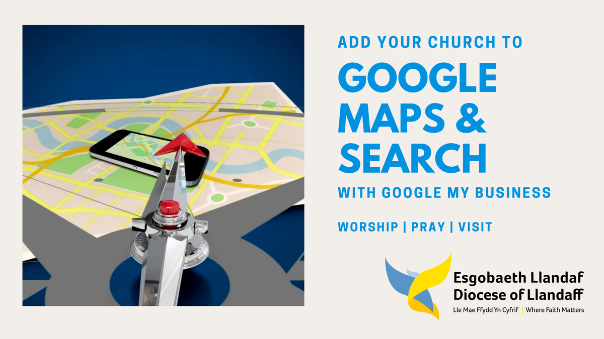 Image of Google Maps and the headline is Add your church to Google Maps & Search