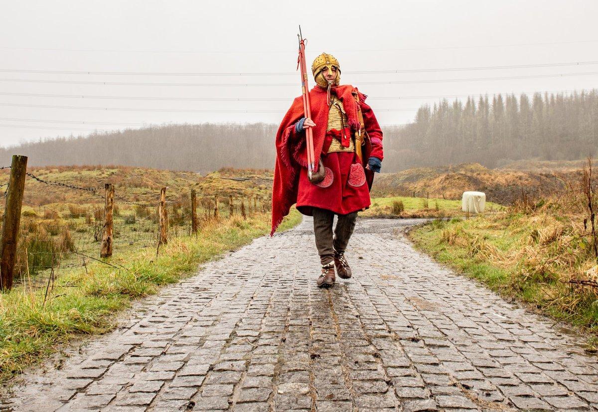 The great Welsh Roman Road Sarn Helen runs through the village centre