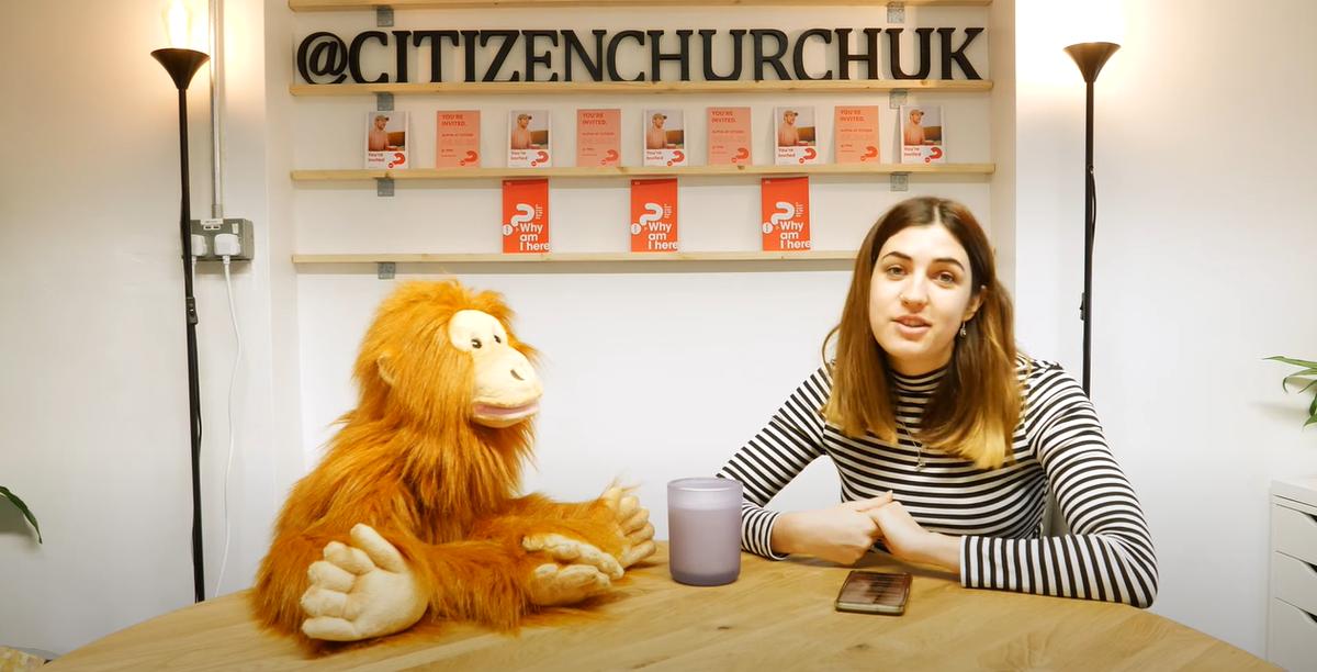 Citizen Church's Abbie and Marmalade the orangutan