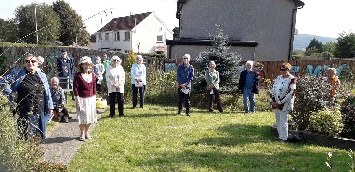 Outdoor service in Caerphilly benefice