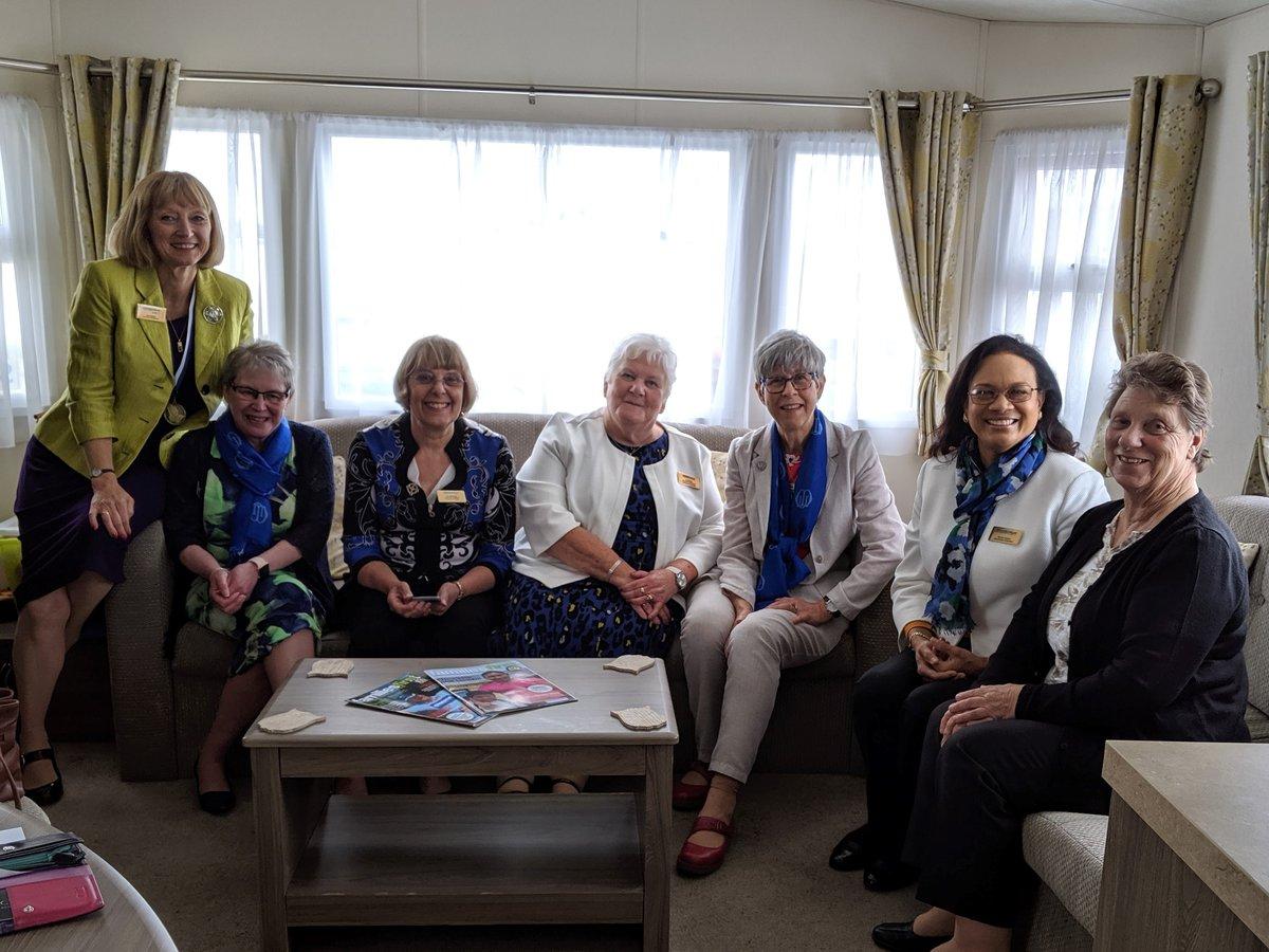 Members of Llandaff Mothers' Union at Porthcawl caravan 2019