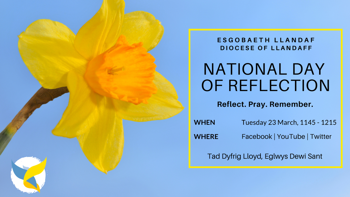 National Day of Reflection on Facebook, Youtube and Twitter on Tuesday 23rch March, 11.45-12.15