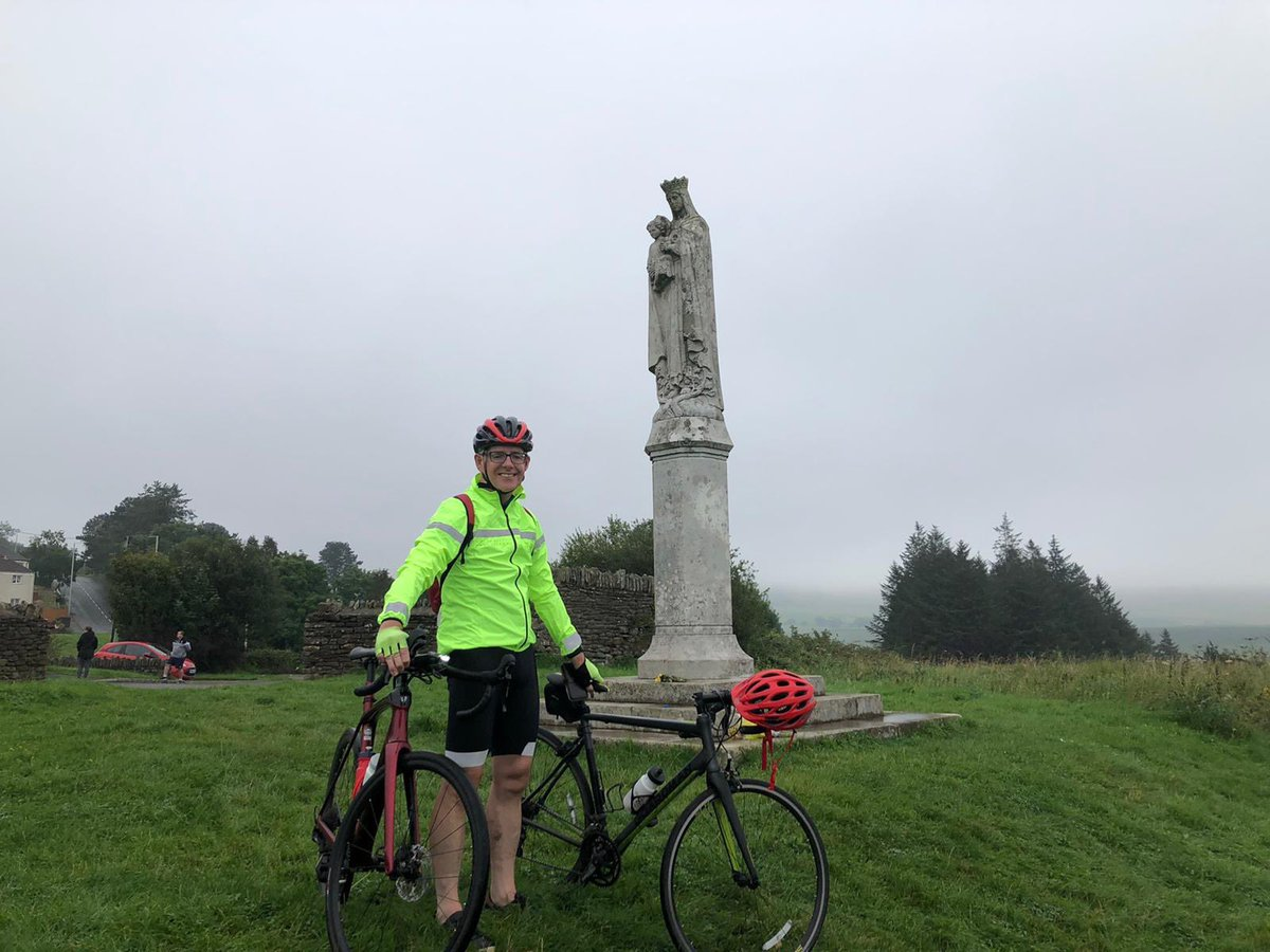 Cyclist on the Penrhys pilgrimage's trail
