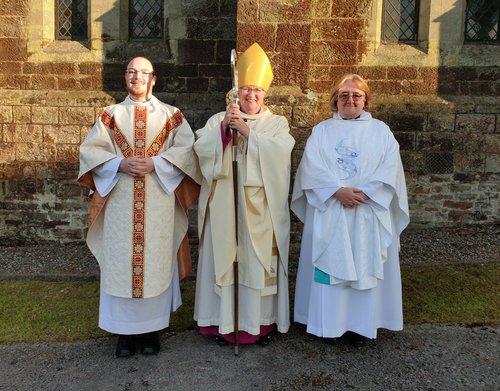 Revd Geraint John, Bishop June, Revd Glenda Oglesbee.jpg