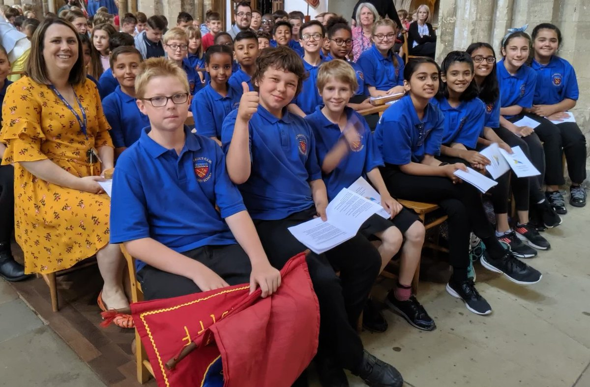 Schoolchildren at the cathedral