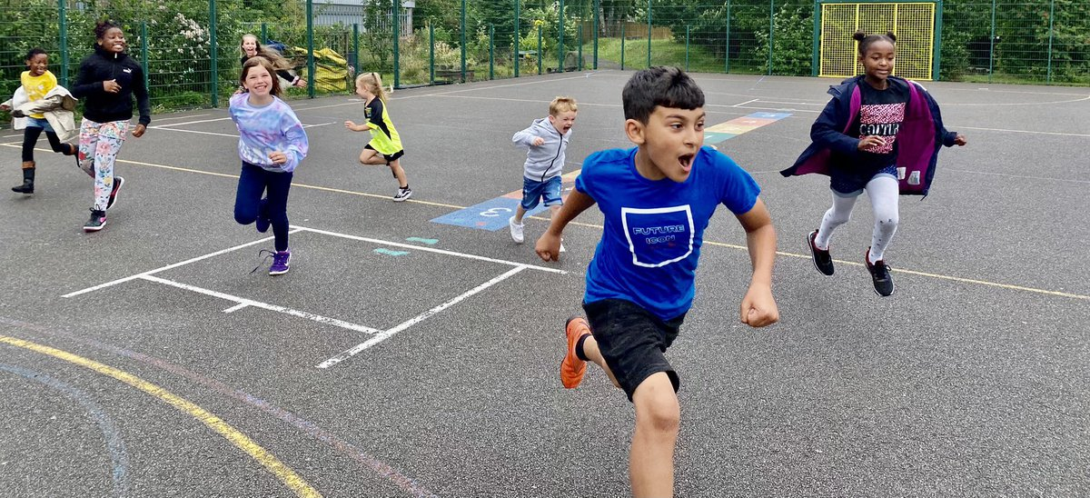 Children in a playground at St Paul's Primary School