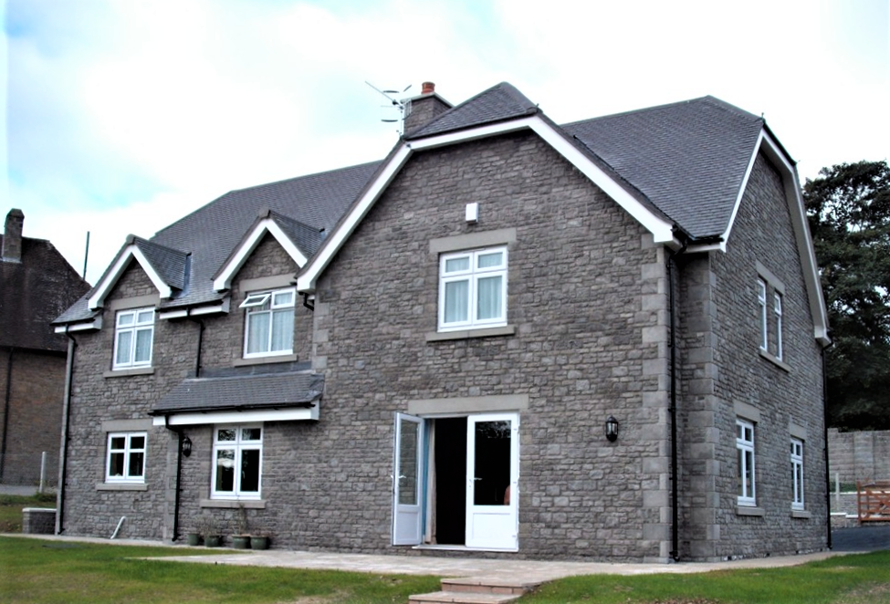 Exterior view of the vicarage at Ystrad Mynach
