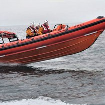 RNLI lifeboat on the sea