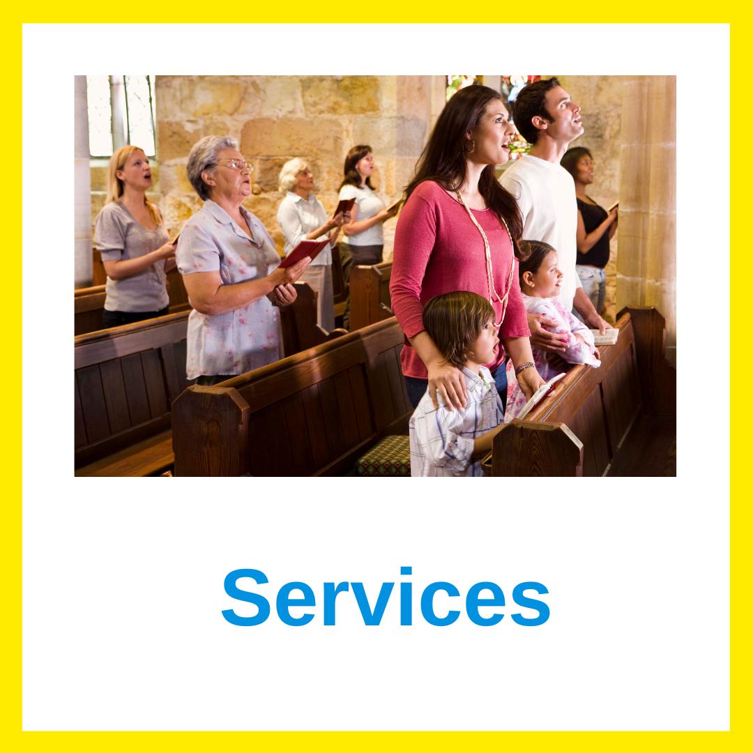 Church services advert